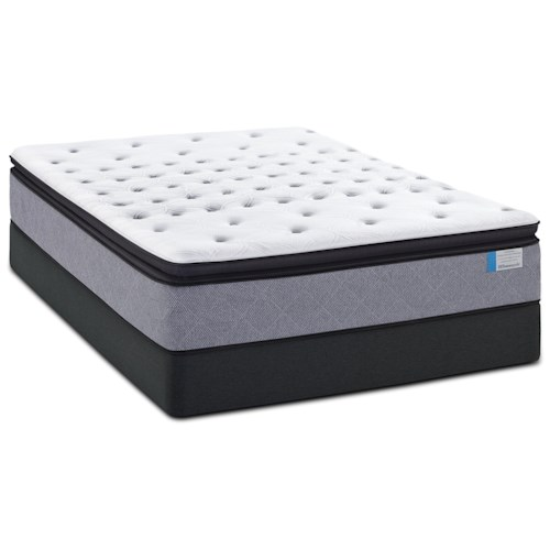 Sealy Norseland Queen Cushion Firm EPT Mattress and High Profile Hybrid Foundation