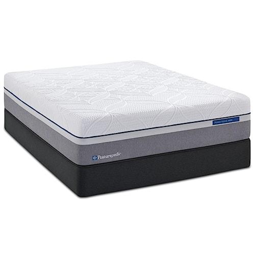 Sealy Posturepedic Hybrid Silver King Plush Hybrid Mattress and Reflexion 4 Adjustable Base