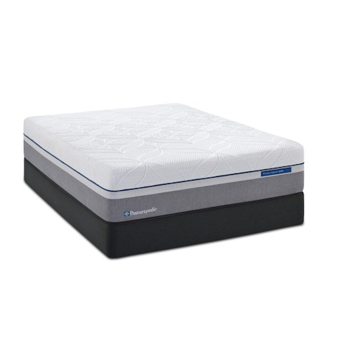 Sealy Posturepedic Hybrid Silver Queen Plush Hybrid Mattress and Reflexion 7 Adjustable Base