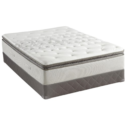 Sealy Posturepedic Gel 2013 California King Cushion Firm Euro Pillow Top Mattress and Foundation
