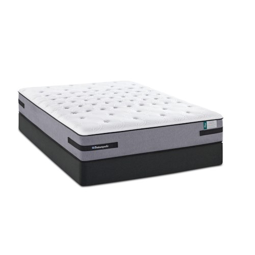 Sealy Posturepedic Plus Diamond Resort  Queen Cushion Firm TT Mattress and Low Profile StableSupport Foundation