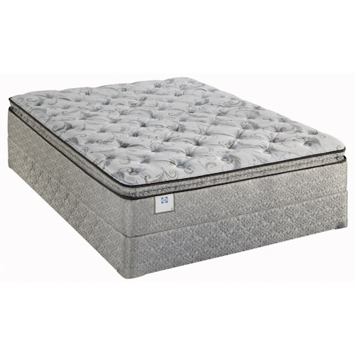 Sealy Sealy Brand Gel 2013 Twin Plush Euro Pillow Top Mattress and Foundation