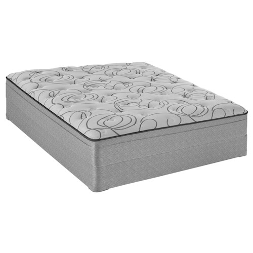 Sealy Sealy Brand Level 3 Twin Plush Faux Euro Top Mattress and 5