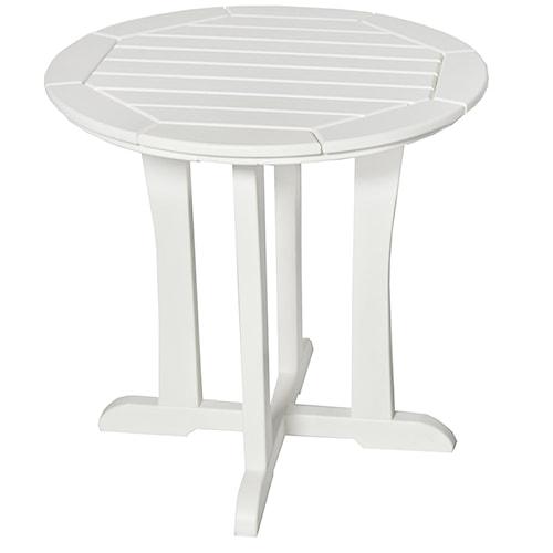 Seaside Casual Westport Bistro Round Outdoor Dining Table