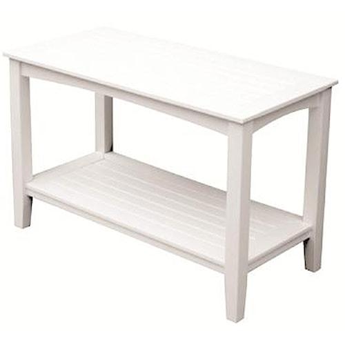 Seaside Casual Windsor Outdoor Console Table w/ Lower Shelf
