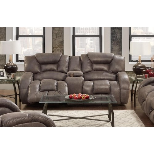 Seminole Furniture Gallop Steel Reclining Sofa