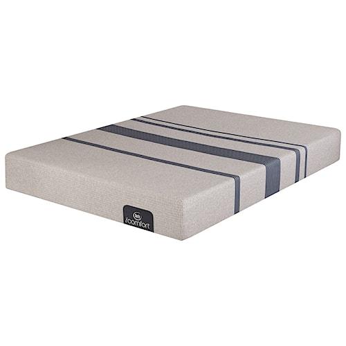 Serta iComfort Blue 100 Gentle Firm Queen Gentle Firm Gel Memory Foam Mattress and MP III Adjustable Foundation