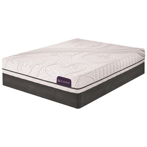 Serta iComfort Foresight Cal King Gel Memory Foam Mattress and Low Profile StabL-Base Foundation
