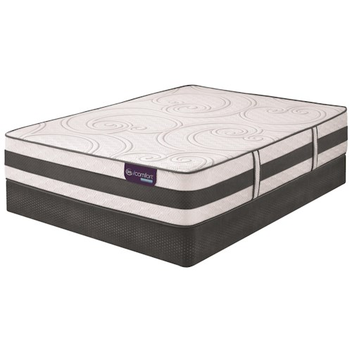 Serta iComfort Hybrid Discoverer Full Firm Hybrid Smooth Top Mattress and Low Profile StabL-Base Foundation