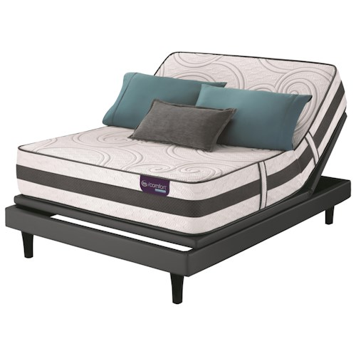 Serta iComfort Hybrid Philosopher Twin Extra Long Plush Hybrid Mattress and Motion Perfect III Adjustable Base