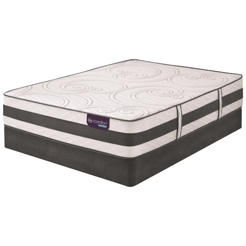 Serta iComfort Hybrid Philosopher Twin XL Extra Firm Hybrid Mattress and Low Profile StabL-Base Foundation