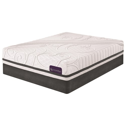 Serta iComfort Savant III Queen Plush Gel Memory Foam Mattress and Low Profile StabL-Base Foundation