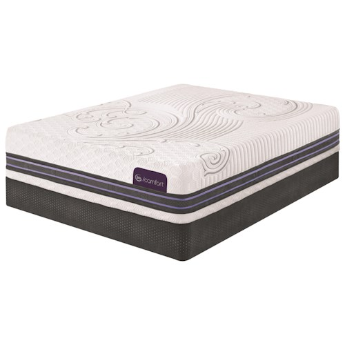 Serta iComfort SmartSupport F300 Cal King SmartSupport™ Memory Foam Mattress and Low Profile StabL-Base Foundation