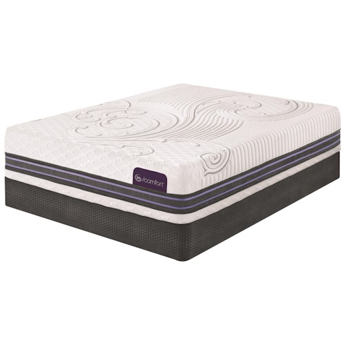 Serta iComfort SmartSupport F500 King SmartSupport™ Memory Foam Mattress and Low Profile StabL-Base Foundation
