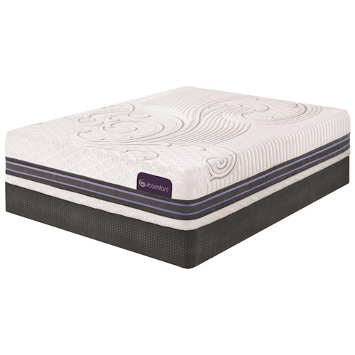 Serta iComfort SmartSupport F700 Cal King SmartSupport™ Memory Foam Mattress and Motion Custom II Adjustable Base