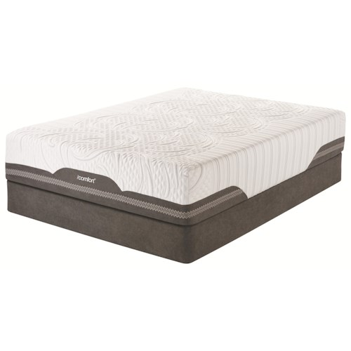 Serta iComfort Vivacious EverFeel Cal King Gel Memory Foam Mattress and Motion Custom Adjustable Base