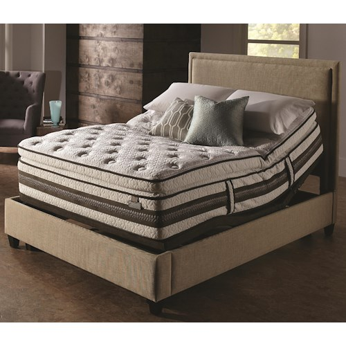 Serta iSeries Profiles Honoree King Super Pillow Top Mattress and Serta® Motion Perfect® II Adjustable Base