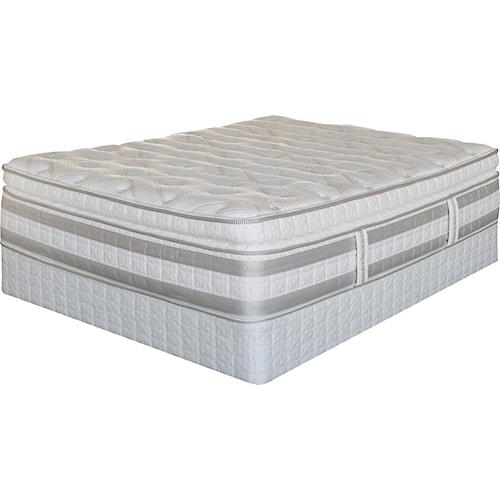 Serta Trump Home iSeries Bradbury Full Super Pillow Top Mattress and Box Spring