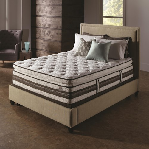 Serta iSeries Profiles Honoree Twin Extra Long Super Pillow Top Mattress and Box Spring