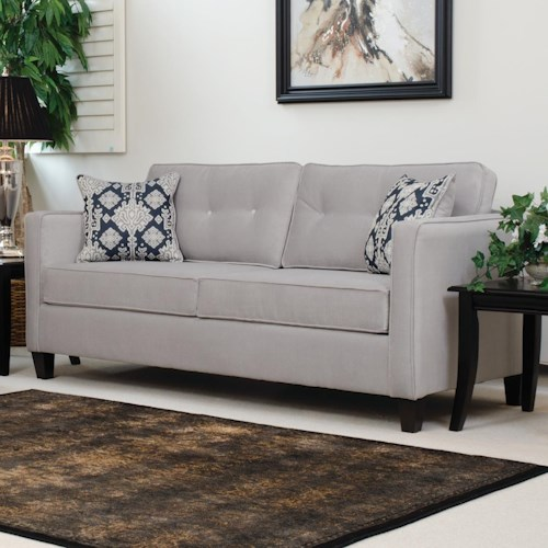 Serta Upholstery by Hughes Furniture 1375 Sofa with Casual Contemporary Style