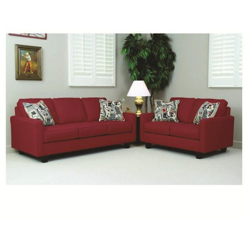 Serta Upholstery Graham Sofa & Loveseat Set