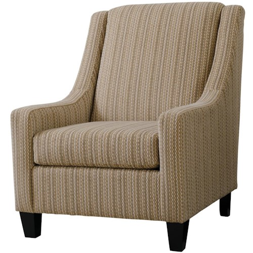 Serta Upholstery 1500 Occasional Chair with Sloped Arms