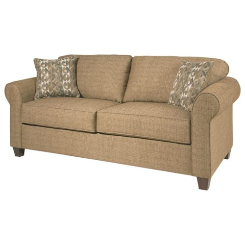 Serta Upholstery 1750 Casual Twin Sofa Sleeper with Sock Arms