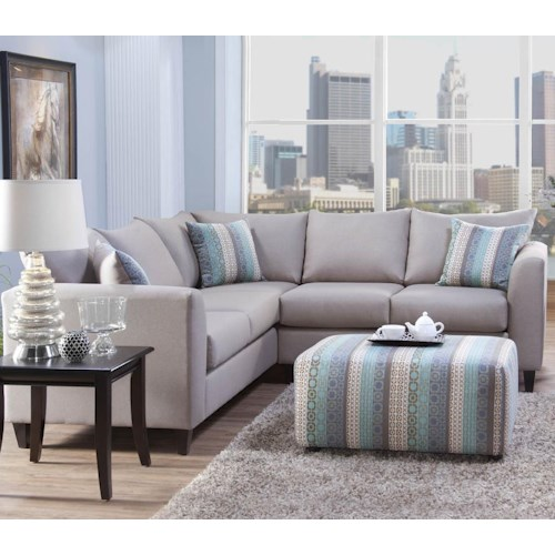 Serta Upholstery by Hughes Furniture 2100 Stationary Sectional