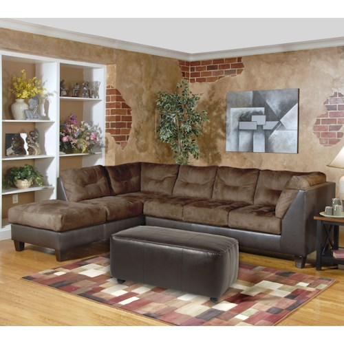 Serta Upholstery 2550 Series Contemporary Sectional with Left-Facing Chaise