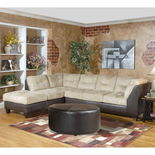 Serta Upholstery 2550 Contemporary Sectional with Left-Facing Chaise