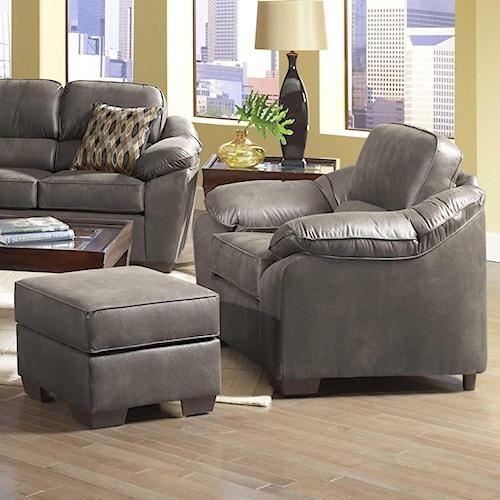Serta Upholstery 3800 Comfortable Chair and Ottoman Set