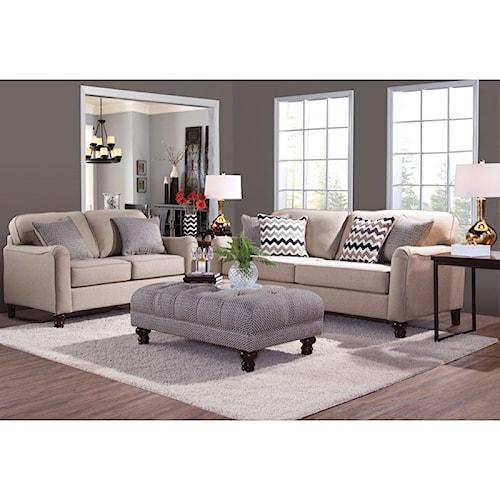Serta Upholstery Pemberley Stationary Living Room Group