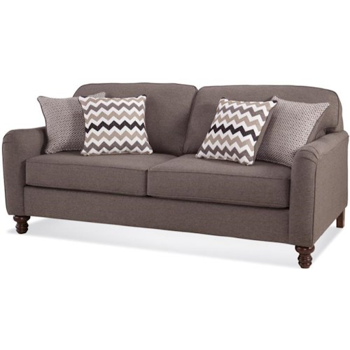 Serta Upholstery Pemberley Transitional Sofa with Turned Feet