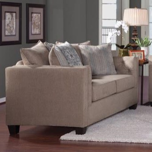 Serta Upholstery 4850 Transitional Loveseat with Tufted Arms