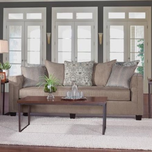 Serta Upholstery 4850 Transitional Sofa with Button-Tufted Arms