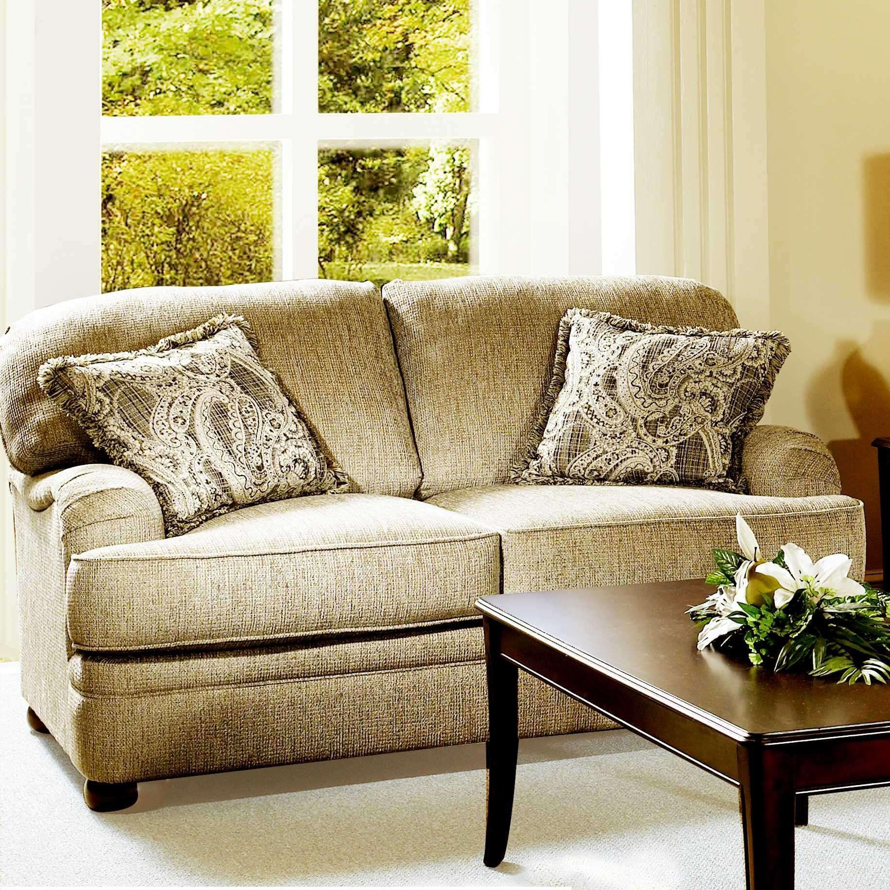 Serta Upholstery By Hughes Furniture 5500 Transitional Loveseat