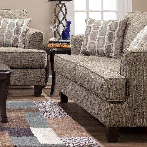 Serta Upholstery by Hughes 5600 Transitional Love Seat with Accent Pillows