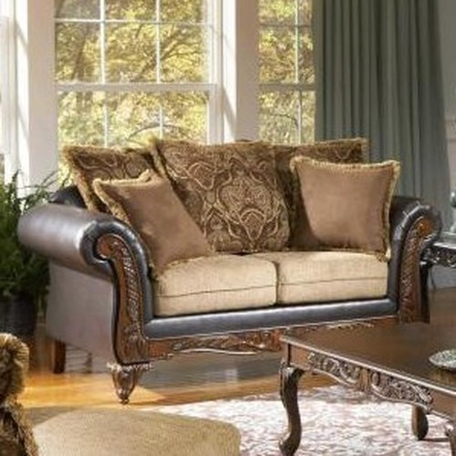 Serta Upholstery 7900 Serta Traditional Upholstered Love Seat with Loose Cushions