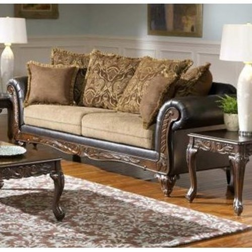 Serta Upholstery 7900 Serta Traditional Upholstered Sofa with Loose Pillows