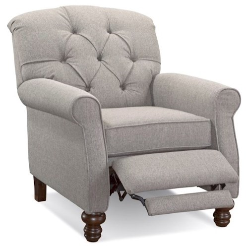 Serta Upholstery by Hughes Furniture 850 Serta Upholstery Traditional High Leg Recliner with Tufted Seat Back