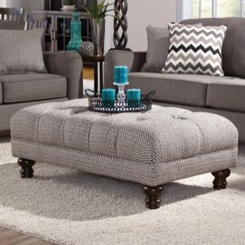 Serta Upholstery 8750 Traditional Cocktail Ottoman with Tufting