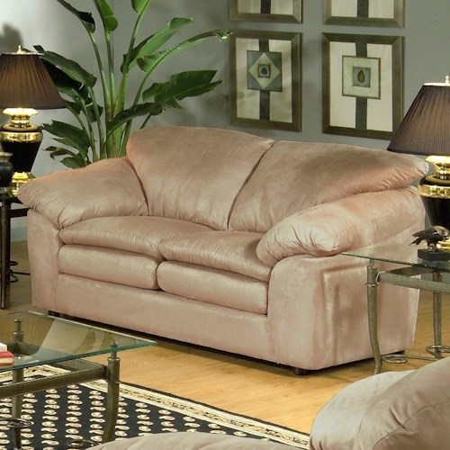 Serta Upholstery 9000 Casual Loveseat with Plush Pillow Top Seats
