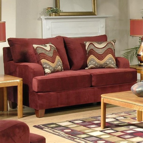 Serta Upholstery 9200 Loveseat with Track Arms