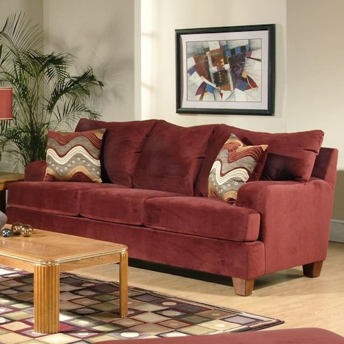 Serta Upholstery 9200 Casual Sofa with Thick Track Arms
