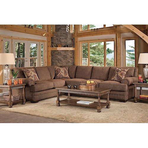 Serta Upholstery Sunderland 5PC Living Room Package w/ Sectional & Table Set