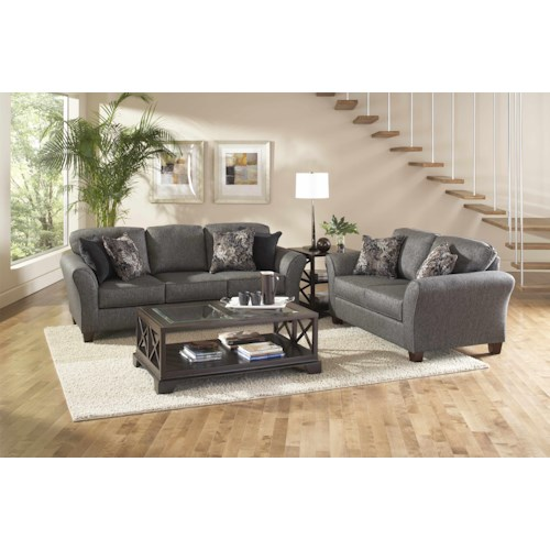 Serta Upholstery by Hughes 4600 Sofa & Love seat Combo
