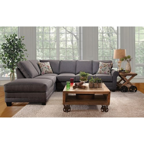 Serta Upholstery Jitterbug 2PC Sectional w/ Chaise