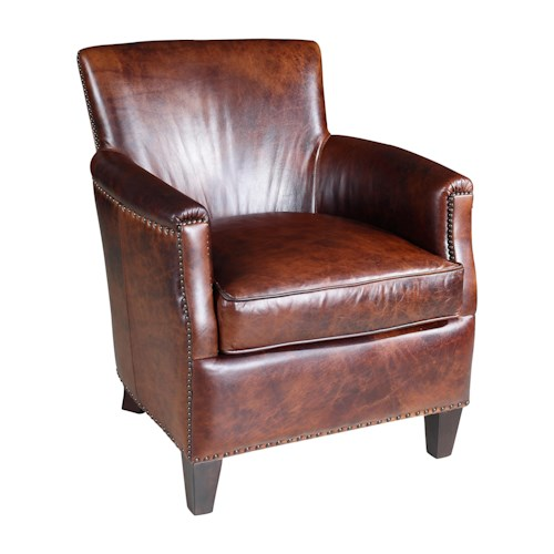 Hooker Furniture Club Chairs Transitional Nailhead-Studded Club Chair