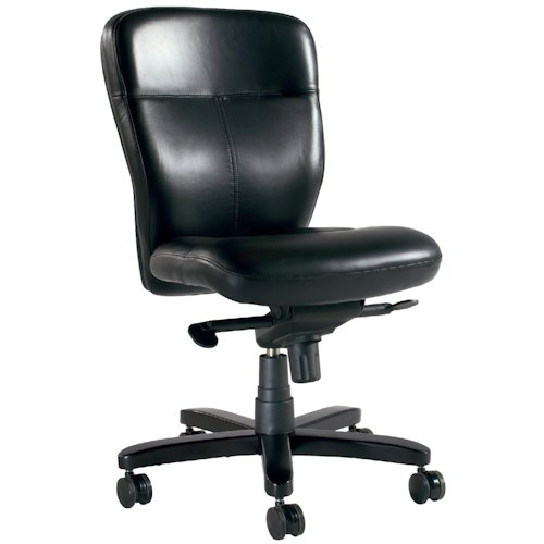 Hooker Furniture Executive Seating Armless Executive Swivel Tilt Chair