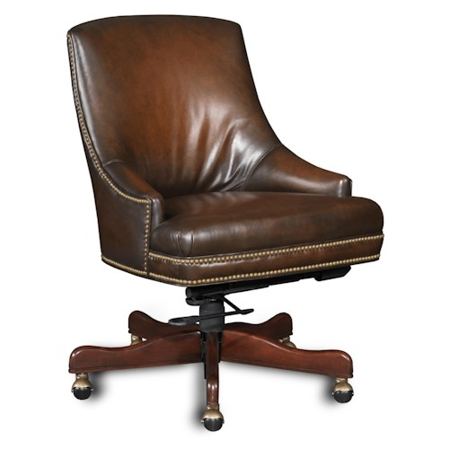 Hooker Furniture Executive Seating Executive Swivel Tilt Chair with Low Curved Arms